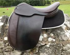 """17.5"""" C & J Copeland WH Show Saddle Havana brown Wide Fit Excellent Condition!!"""