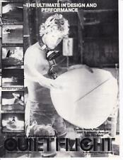 New listing Rare 1978 Quiet Flight Surfboard & Skateboards Ad/ Regis Jupinko
