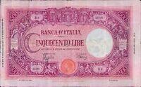 REGNO D' ITALIA V.E.III 500 LIRE 31/03/1943 BARBETTI MODIFICATO FASCIO RARA