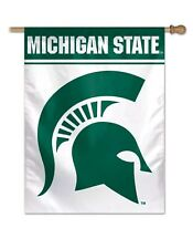 """Michigan State Spartans 27""""X37"""" Banner Flag Brand New Free Shipping Wincraft"""
