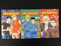 MENKUI! Anime Manga Suzuki Tanaka  VOLUMES 1,2,3  YAIO MANGA BLU