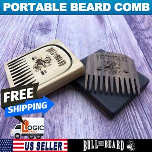 Portable Wooden Pocket Beard Comb -Bull with Beard- Bull No.2