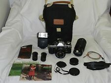 CANON AE-1 PROGRAM & CANON FD 50MM F1.8 LENS *NICE* **GREAT BUNDLE** *WORKS*