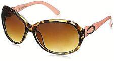 Stylish Popular Foster Grant Tortoise Pink & Brass Large Lens Sunglasses MaxUV