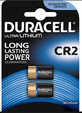 2 x batería de litio Duracell CR2 3v Foto DLCR 2 ELCR 2 CR15H270 3v de LITIO BATT