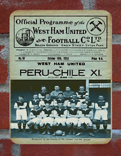 Vintage  Tin Sign West Ham United Programme Cover Metal Sign. Man Cave