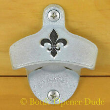 Embossed FLEUR DE LIS Starr X Wall Mount Stationary Bottle Opener - NEW!!