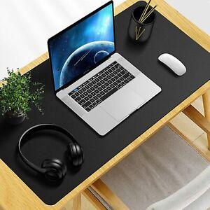 Non-slip Desktop Protector, 23.6 X 15.7 Inches Waterproof PU Leather Desk Mat