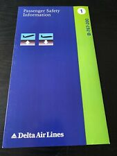 Delta Air Lines Boeing 767-200 Safety Card