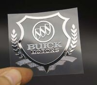 Auto Car Parts Accessories Window Badge Emblem Stickers Logo for Buick Silver