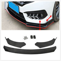 Glossy Black Front Bumper Lip Spoiler Body Kit For Ford Mustang GT 1999-2019