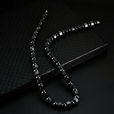 Health Care Hematite Magnetic Necklace Gemstone Round Beads Choker for Women Men