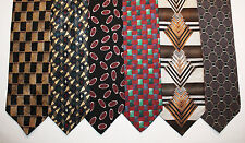 NEW Lot of 6 Designer Neck Ties with Patterns, Karl Lagerfeld and more L010