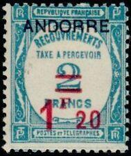 "ANDORRE FRANCAIS STAMP TIMBRE TAXE N°13 "" TIMBRE DE 1927-31 1F20 "" NEUF xx TTB"