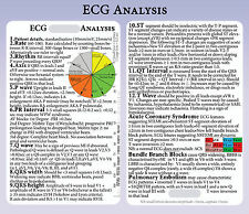 ECG analysis & Interpretation (EKG) PVC Lanyard Card - pocket card and ruler