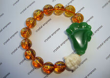 FENG SHUI - WEALTH, PROSPERITY & HAPPINESS BRACELET (12MM CITRINE MANTRA)