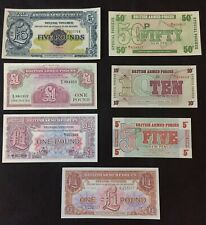 Job Lot Military Bank Notes - Armed Forces Notes.