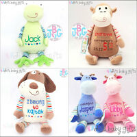 Personalised Custom Teddy Bears, New Baby/Christening Embroidered Cubbies Gift