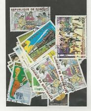 Djibouti, Postage Stamp, Used  Lot Of Commemoratives, High Cat Value (p)