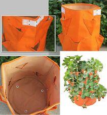 Sac à fraisiers en toile orange - Sac de plantation pour fraises