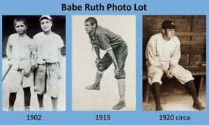 1902 1913 1920 Babe Ruth Childhood 3 PHOTO Lot Red Sox New York Yankees Photos