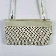 Whiting & Davis Womens Evening Bag White Sequin Clutch Classic LG8