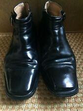 Giorgio Venturi Men's Black Leather Ankle Boots Dress Shoes Size 9.5 Buckle