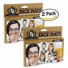 Gentleman Club Face Coasters 20 Hilarious Double Sided Funny Face Coaster 2 PACK