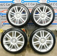 "Audi 8P 18"" S Line Alloy Set with Tyres Twin Spoke 7.5J 4mm+ Tread 8P0601025AJ"
