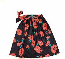 Womens Malia Honolulu Vintage Hawaiian High Waisted Skirt Floral Midi 1970s 80s