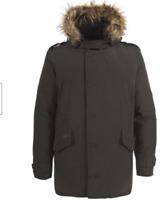 Tresspass Gallacher Mens Down Jacket Green Hooded Mens Size UK XXL *REF105