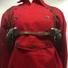 "Fits Colt,Ruger Vaquero,Blackhawk, 51/2"" Western SAA Double Huckleberry Leather"