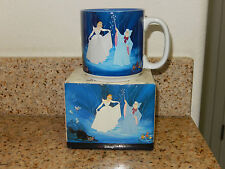 NEW in BOX Disney Cinderella Mug Fairy God Mother Horse Drawn Coach Lucifer Cat