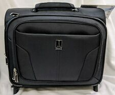 "NEW Travelpro Luggage 16"" Lightweight Carry-On Rolling Tote Suitcase Black"