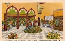 Linen Postcard A. Wiegand's Sons Co. Florists in Indianapolis, Indiana~111160