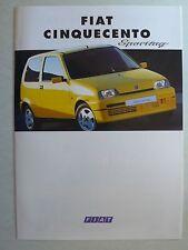 Prospekt Fiat Cinquecento Sporting, 11.1994, 6 Seiten, folder