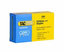 Tacwise 0331 53/6mm Staple Galvanised, 6 mm, Set of 5000 Pieces