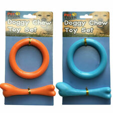 2 x Dog Chew Toys Kit Tough Strong Bone Pet Puppy Cotton Teething Toy uk