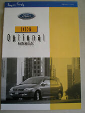 Ford Ixion Optional Parts & Goods brochure c1999 Japanese text