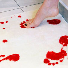 Fashion Blood Bloody Footprints Non-slip Rugs Bathroom Floor Shower Mats 1PC