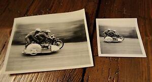 Walter Schneider & Hans Strauß 1954 Isle of Man Sidecar TT (Original Photos) BMW