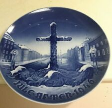 "B&G Bing & Grondahl 1946 Christmas Plate Denmark ""Commemoration Cross """