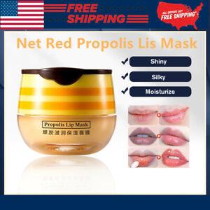 Propolis Moisturizing Honey Lip Mask Lip Balm Nourishing Anti-wrinkle Lip Care~