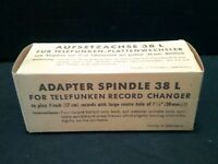 """Adapter Spindle 38 L For Telefunken Record Changer To Play 7"""" Records w/ LG Hole"""