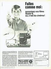 PUBLICITE ADVERTISING 066  1967   la caméra Super 8 Paillard-Bolex