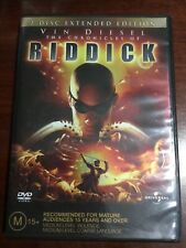 The Chronicles Of Riddick Extended Edition Good Condition 2 Dvds R2,4 &5 Pal