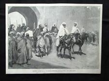 Marocco - Un convoglio di prigionieri ribelli entrano a Fez Stampa del 1903