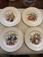 4 Regency Bone China England Salad Dessert Plates Fruit