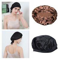 2pcs 100% soie nuit Bonnet de Noeud Bow Bonnet Chapeau Soins Coiffure Femmes