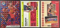 Lot of (3) De'Andre Hunter, Including Mosaic Blue Reactive, Contenders & Hoops